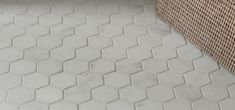 """8"""" x 16"""" field and 2"""" hexagon mosaic in honed finish (shown in: Southern Living, Historical Concepts, Castle Homes, interior design: Phoebe Howard, photographer: Rich Maciejewski)"""