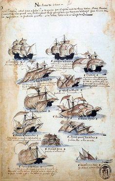 A frota comandada por Pedro Álvares Cabral, o navegador que descobriu o Brasil em 1500. - circa 1568 (Publicado no livro Livro das Armadas no século 16) Durante milhares e milhares de anos jaz incógnito e anônimo o gigantesco território brasileiro com suas florestas verde-escuras e sussurrantes, suas montanhas e seus rios e seu mar ritmicamente sonoro. A tardinha de 22 de abril de 1500, de repente aparecem no horizonte algumas velas brancas; caravelas bojudas e pesadas, com a vermelha cruz…
