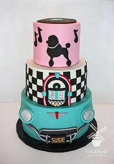 Italian Vespa Guest Dessert Feature Vespa Cake Vespa And Cake - Rockabilly birthday cake