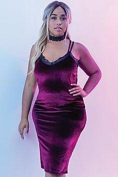 Jordyn Velvet Lace Back Midi Dress