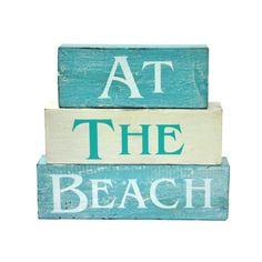 Earth de Fleur Homewares - 'At The Beach' Block Words Decorative Homewares
