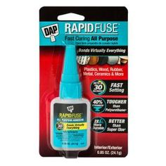 DAP RapidFuse Fast Curing All Purpose Adhesive is the latest advancement in breakthrough technology. It sets in 30 seconds, cures in 30 minutes. The bond is clear with no expanding foam, no dripping glue Metal Glue, Wood Glue, Gift Boxes With Lids, Box With Lid, Wood Gift Box, Wood Gifts, Glass Glue, Plywood Projects, Expanding Foam
