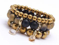 Bracelets – Set of 3 bracelets HM998 – a unique product by Blackif on DaWanda