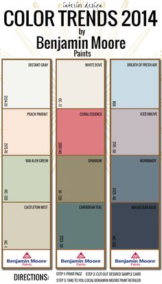 2014 Interior Design Color Trends with Benjamin Moore #design #designer #inspiration #color #colour #palette #hues #tones #shades #colorpalette #colorinspiration