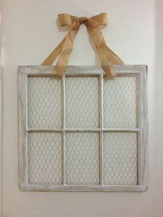 "31x32"" Antique Window Picture Frame on Etsy  Love this and the bow.  Might want to incorporate this into the wall.  Also, would be good to find some metal scroll work or diffent ""relief"" type stuff"