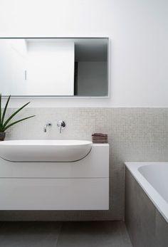 Vanity Unit With Semi-Recessed Basin