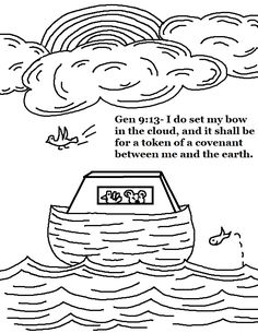 Printable Old Testament Bible Coloring Pages Sunday School And VBS Program Aids Noah The Ark Activity Lesson