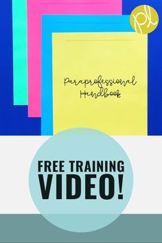 Paraprofessional Training Ideas - Download this free training to prepare for paraprofessionals in your classroom! From Positively Learning Blog #paraprofessional #paraeducators #backtoschool