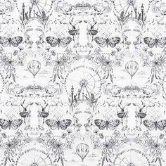 Jennifer Sampou - Black and White 2 - Modern Toile in Onyx