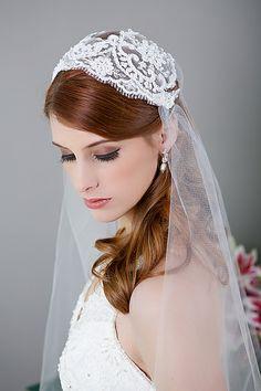 bridal veil, art deco wedding