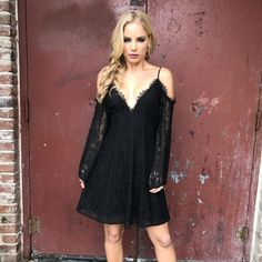 fc467e171 Best Bud Floral Lace Dress In Black Deep Teal