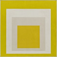Homage to the Square: Two Whites Between Two Yellows Josef Albers (American, born Germany. 1888–1976) 1958. Oil on composition board, 40 x 40 (101.5 x 101.5 cm). Mary Sisler Bequest. © 2013 The Josef and Anni Albers Foundation / Artists Rights Society (ARS), New York