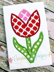 Tulip Applique - 4 Sizes! | What's New | Machine Embroidery Designs | SWAKembroidery.com Creative Appliques