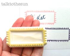 handmade stamp. seal wax hand carved rubber stamp. by talktothesun