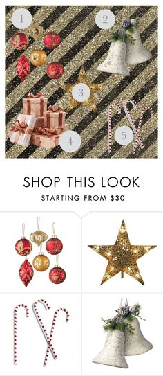 """""""Essential Christmas Tree Decor"""" by fashion4life2100 ❤ liked on Polyvore featuring interior, interiors, interior design, home, home decor, interior decorating, Improvements, Kurt Adler, Grandin Road and National Tree Company"""