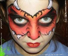 Monster - Click on the smaller images to enlarge: London, England, UK Welcome to The Live Canvas Professional Make-Up Service, creative Face and Body Painting for all occasions. Professional Make Up Artist