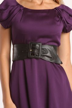 Prada Ladies' High Belt Sash In Black