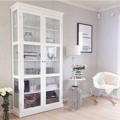 x China Cabinet, Shelving, Storage, Glass, Modern, Furniture, Home Decor, Shelves, Purse Storage