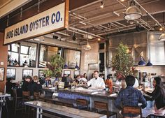 Located inside the Ferry Building in San Fran, this recently expanded oyster bar provides sweeping waterfront views of the Bay Bridge.