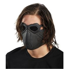 Deluxe Winter Soldier Latex Mask Deluxe Captain America Winter Soldier latex mask. Masks has elastic straps with Velcro to provide a secure fit. This mask fits most teens and adults.
