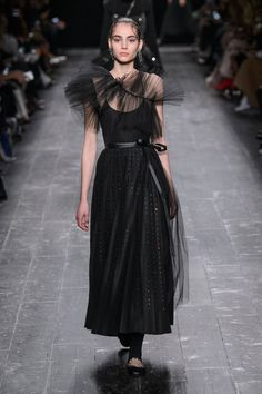 VALENTINO   FW 2016   Tulle Black Dress