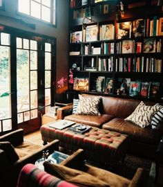 My dream library/study room. It looks so cozy, I could spend many early mornings/late nights here.