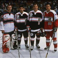 2000 All Star Game...Marty Brodeur, Scott Gomez, Scott Stevens, and Patrik Elias
