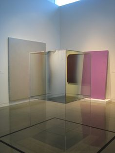 Untitled, 1967, Coated Glass, Plexiglass, and Metal Stripping, Larry Bell, Oakland Museum of California