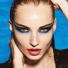 Make up for ever aqua eyes aqua lip Tribal Makeup, Boho Makeup, Eye Makeup Tips, Lip Makeup, Beauty Makeup, Makeup Products, Makeup Ideas, Piercings, Winged Eye