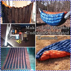 """Make a Cold Weather Underquilt Insulated Hammock Homesteading  - The Homestead Survival .Com     """"Please Share This Pin"""""""