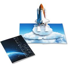 Pop-up Card (Space Shuttle Launch) - Pop-up Cards - Realistic Crafts/Space - Paper Craft - Canon Creative Park Space Crafts For Kids, Diy For Kids, 3d Paper, Paper Crafts, Paper Engineering, Space Shuttle, Space Telescope, Hubble Images, Adult Crafts