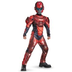 He can transform into a super soldier with a Halo Red Spartan Muscle Costume for boys. This Red Spartan Muscle Costume includes a padded jumpsuit and a Red Spartan mask. Toddler Costumes, Boy Costumes, Adult Costumes, Costume Ideas, Halloween Costume Shop, Halloween Costumes For Kids, Halloween 2016, Military Videos, Oktoberfest Halloween