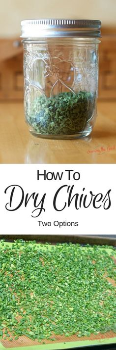 Drying chives is a great way to save them and use them all year long. I show you two easy way to preserve chives at home.
