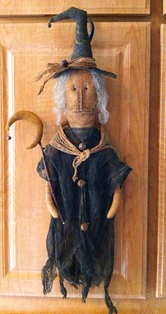 ePatternUnwickedly Witch Door Doll with Moom by PrimsbyDenise, $7.50