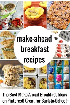 Make Ahead Breakfast Recipes can be a Lifesaver! Back to school is just around the corner and I was thinking that I needed to be better about sending my kids off to school having eaten a healthy breakfast. I have searched high and low for some really good make-ahead breakfast recipes and you guys are …