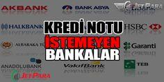 Kredi Notu İstemeyen Bankalar Yeni bir işyeri kurmak, konut almak için kredi, araç kredisi, hayvan için kredi notu istemeyen bankalar.  Günümüzde neredeyse tüm bankaların kredi verirken kredi notunu baz aldıklarını herkes bilir.   #düşük kredi notu olanlara kredi #kredi notu 500 olanlara kredi veren bankalar #kredi notu olmadan kredi veren bankalar #kredi notuna bakmayan bankalar