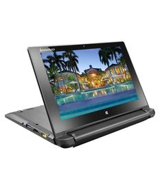 Lenovo Flex 10 (59-430551) Laptop (Intel Celeron- 2GB RAM- 500GB HDD- 25.65cm (10.1) MultiTouch- Windows 8) (Brown)