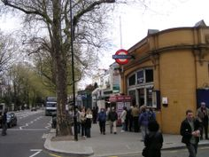Tube station in Holland Park we used every day...