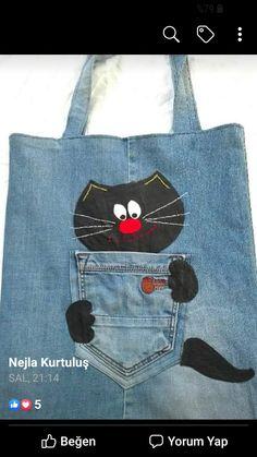Jean Crafts, Denim Crafts, Denim Bag Patterns, Sewing Patterns, Sewing Crafts, Sewing Projects, Jean Purses, Denim Handbags, Recycle Jeans