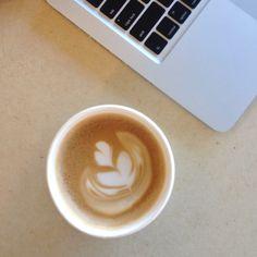 Latte art at Pekoe Sip House