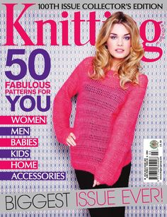 Knitting Issue 100 2012 Hermione Louisa Harding Lacy jumper Amanda Jones