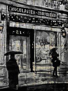 """Saatchi Art Artist Loui Jover; Drawing, """"jour de pluie"""" #art"""