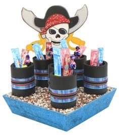 Despachador de dulceros / dulceros para fiestas infantiles / centro de mesa / piratas
