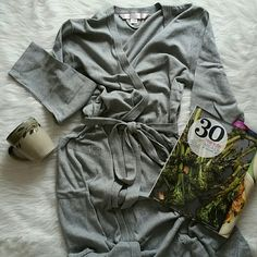Victorias secret full length Heather gray robe NWOT lightweight victoria's secret robe. Inside tie with tie waist. Double pocket with jeweled V. Full length. Victoria's Secret Intimates & Sleepwear Robes