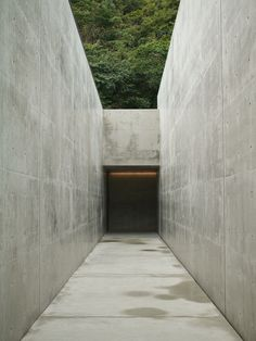 entrance to the Lee Ufan Museum  Tadao Ando