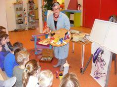 BS De #Firtel in #Stramproy | kunstenares Els Maes op bezoek bij groep 2-3 | kleuren mengen