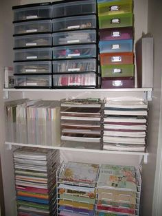 Scraproom Closet.. This is amazing.. Wish everything in the house was this organized!!!