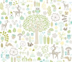 Woodland Wonderland fabric by kate21 on Spoonflower - custom fabric