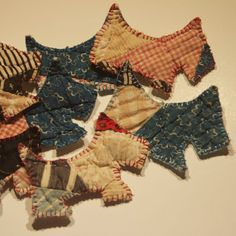 scottie dogs quilted Christmas ornaments by earwingsandthings, $4.00