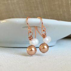 Pearl Dangle Earrings by DTailsULike